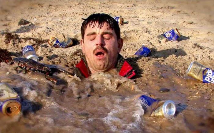 Закапывание во влажный речной песок