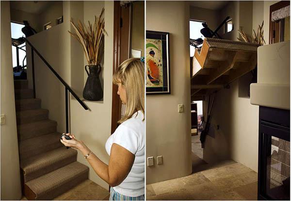 Скрытая дверь в виде лестницы