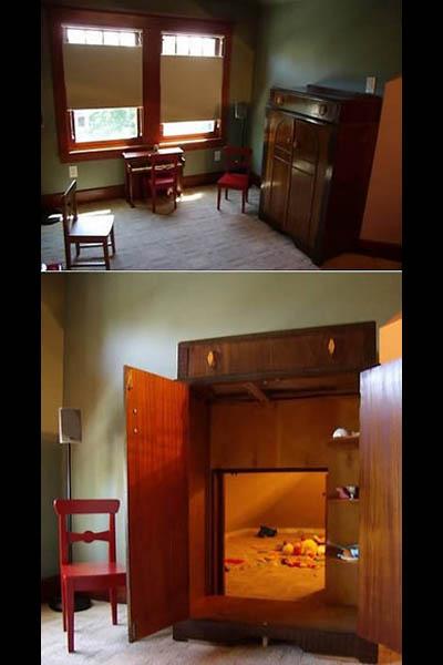 Игровая комната за шкафом