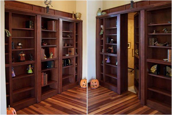 Потайной вход в мебельном гарнитуре