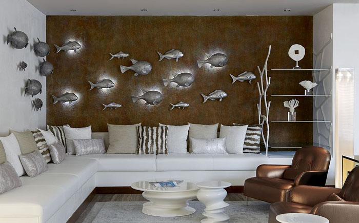 Небольшая гостиная в морском стиле