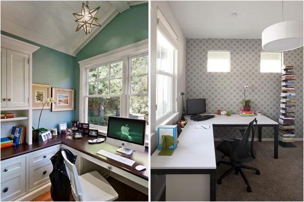 Наглядно разделить комнату на две разные по функциям зоны можно при помощи отделочных материалов