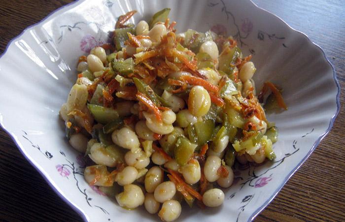 Вкусные рецепты постных салатов с