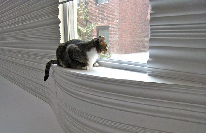 Обеспечьте кота местом для наблюдения за окружающей средой