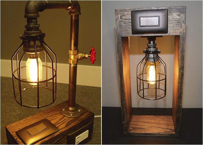 Лампы с выключателями и портами