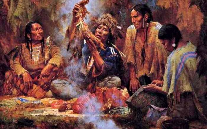 Ритуал високкан индейского племени алгонкинов