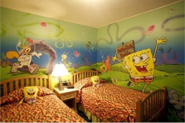 Спальня фанатов Губки Боба
