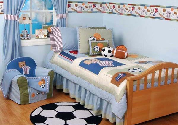 Спальня для юных спортсменов