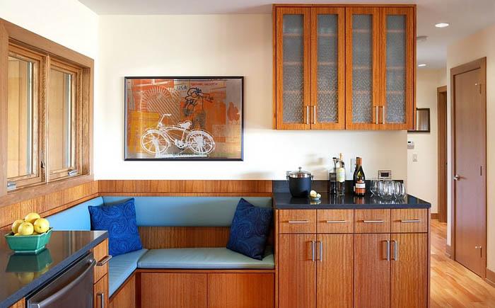 Дизайн кухонного уголка для маленькой кухни