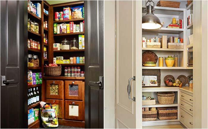 Просторные кладовые в встроенных шкафах