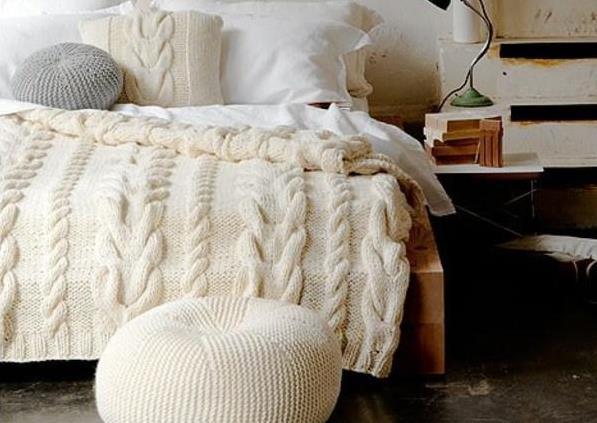 Вязанное одеяло своими руками