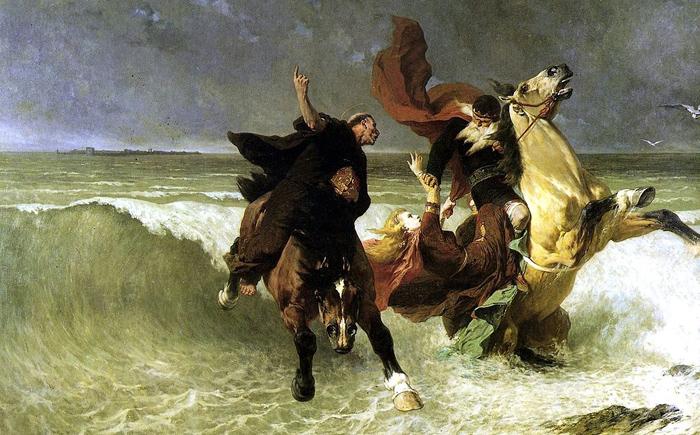 Король бросает дочь в море