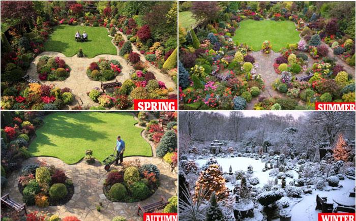 Нужно учитывать сезонность при оформлении двора