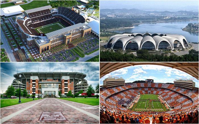 10 самых больших стадионов в мире, на которые придётся брать бинокли