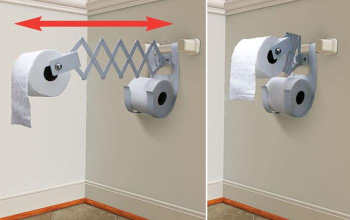 Выдвигающийся держатель для туалетной бумаги