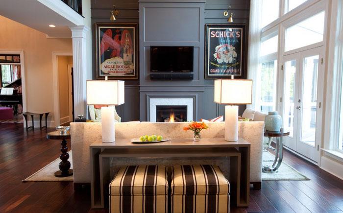 Интерьер гостиной от Emerald Hill Interiors