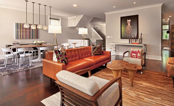 Интерьер гостиной от Buckingham Interiors + Design LLC