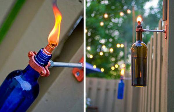 Факел из винной бутылки