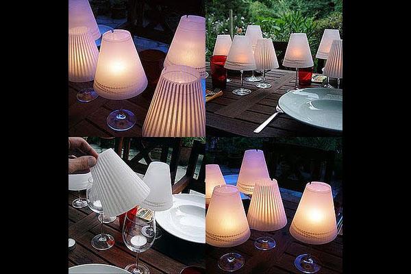 Светильники из бокалов для вина