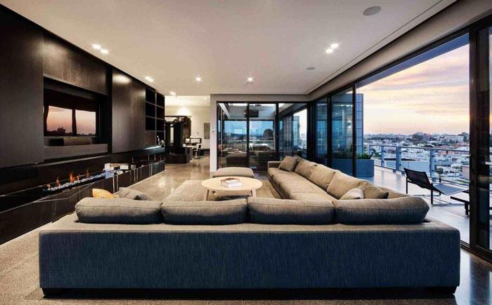 Гостиная от австралийской студии JAM Architects