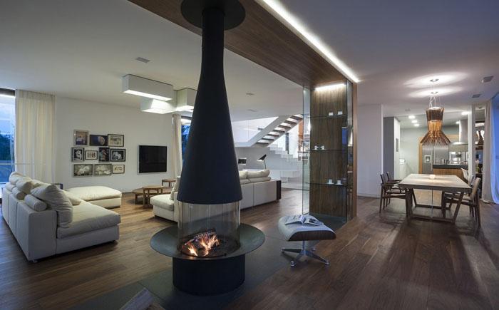 Интерьер гостиной от компании Mobius Architects