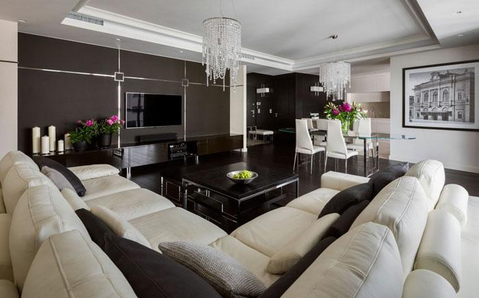 Интерьер гостиной от HOLA Design