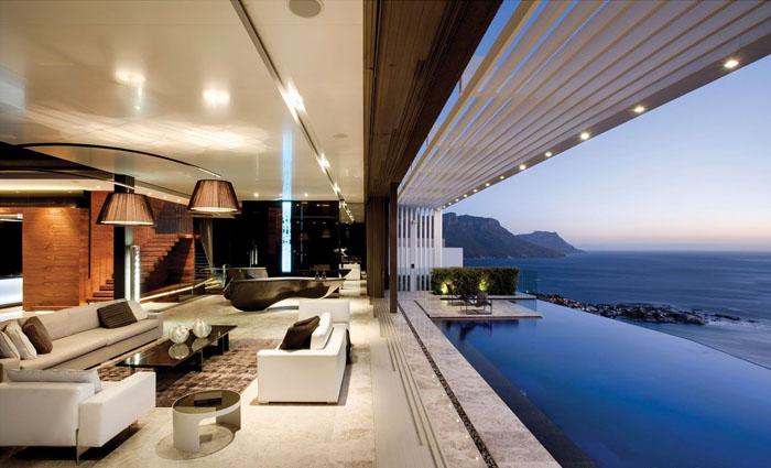 Гостиная от SAOTA architects и OKHA Interiors