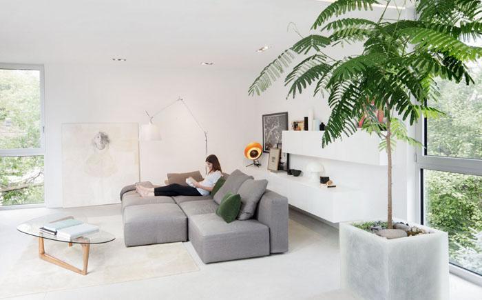 Интерьер гостиной от от студии Thomas Balaban Architecte