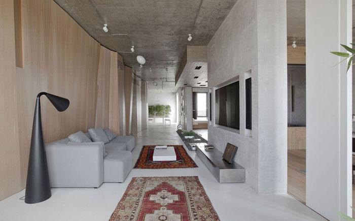Интерьер гостиной от московской студии M17