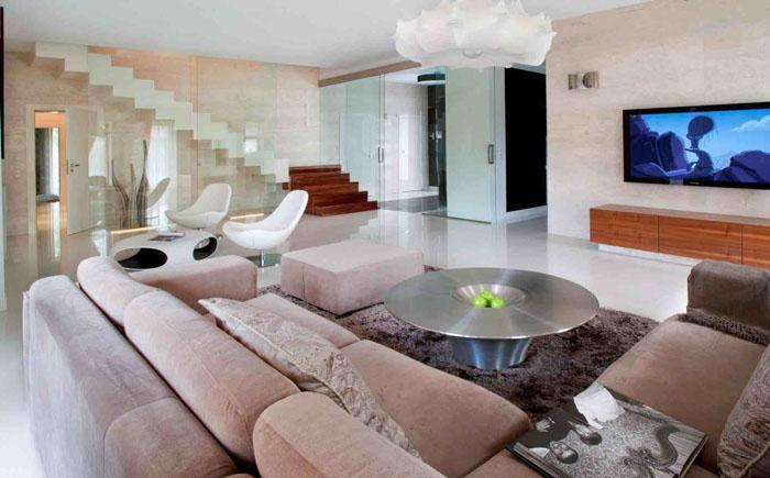 Интерьер гостиной от польской студии Nasciturus Design