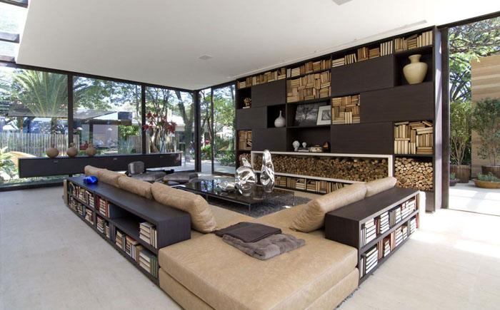 Интерьер гостиной от студии Fernanda Marques Arquiteto Asociados