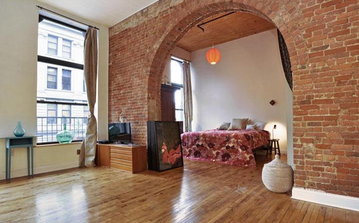10 простых и эффектных шагов к спальне в нью-йоркском стиле лофт