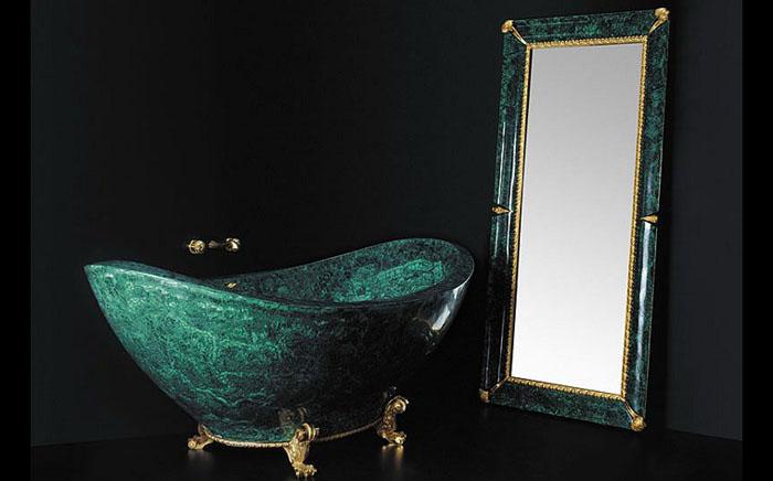 Эксклюзивная ванна из малахита от Baldi