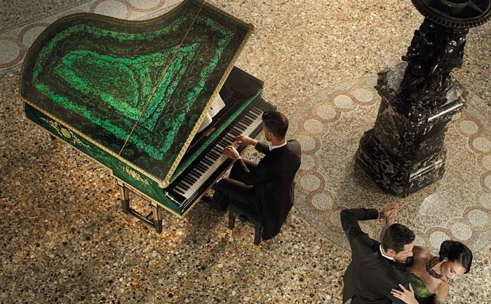 Малахитовый рояль от  Baldi и Bechstain