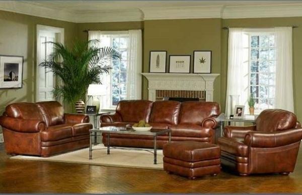 Кожаная мебель - непременный атрибут мужского интерьера