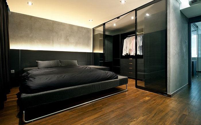 Функциональная мужская спальня
