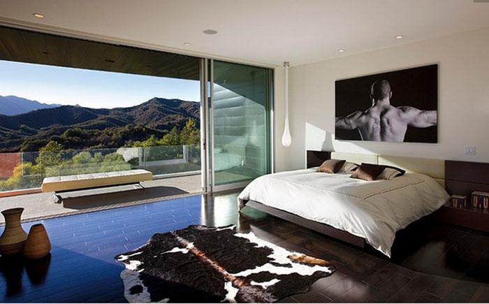 Интерьер спальни от компании Abramson Teiger Architects
