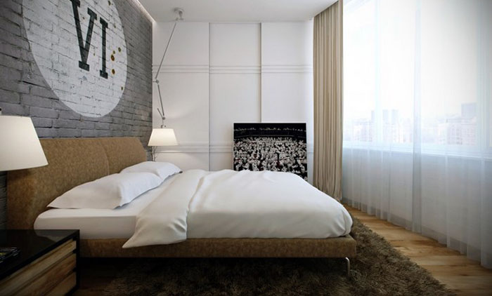 Отражение природы в дизайне мужской комнаты