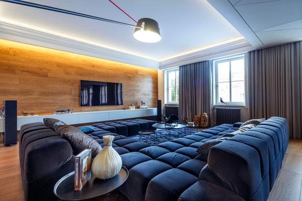 Мужской выбор: стильная квартира с неподвластным времени интерьером