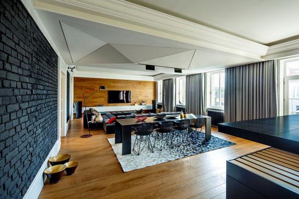 Современная квартира с открытой планировкой