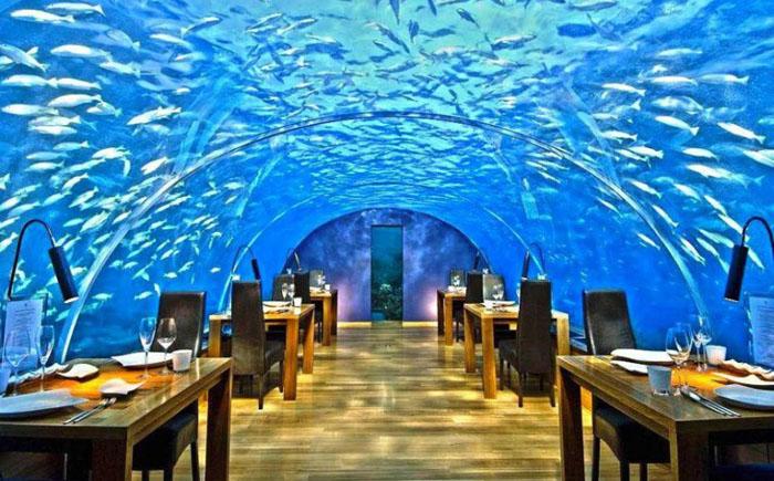 Подводный ресторан Ithaa, Рангали Айлэнд, Мальдивы