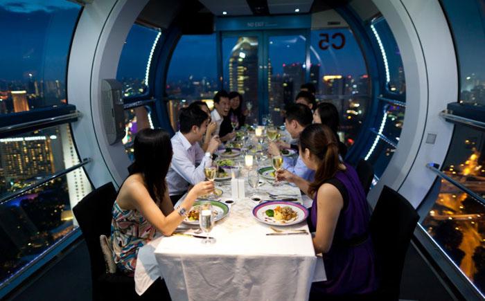 Ресторан Sky Dining на Сингапурском колесе обозрения, Сингапур