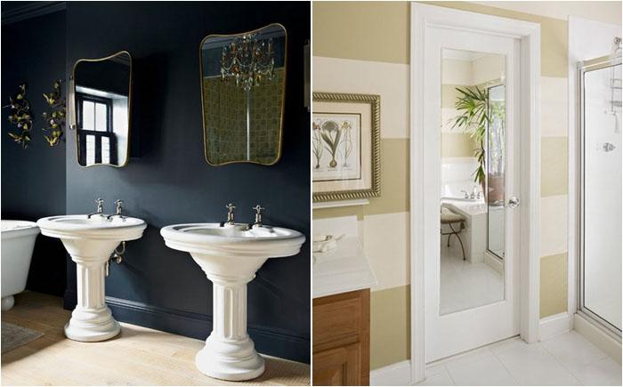 10 способов, как можно преобразить ванную комнату при помощи зеркала