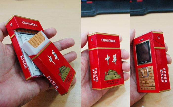 Китайский телефон в виде пачки сигарет