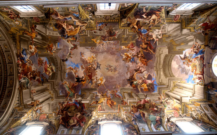 Изумительные фрески Андреа Поццо