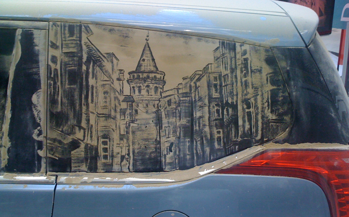 Картины от Скотта Уейда на грязной машине