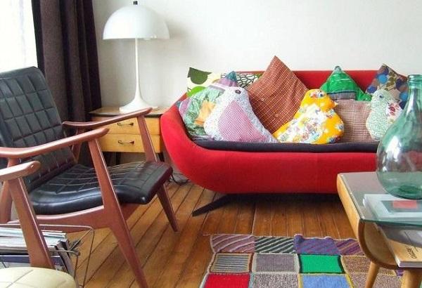 Разноцветная гостиная от дизайнера Nina Van De Goor
