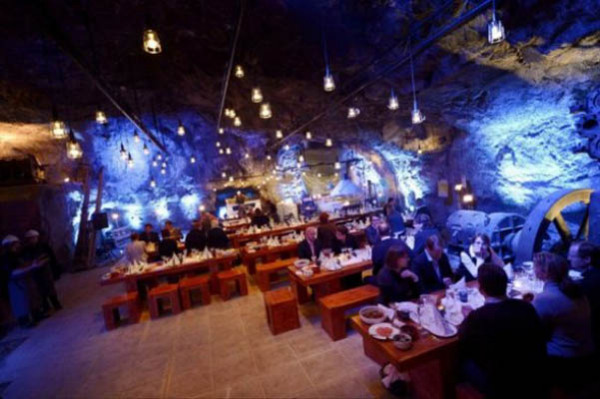Ресторан в шахте (Финляндия)