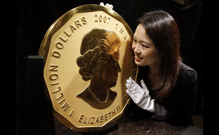 Золотая монета королевы Елизаветы II