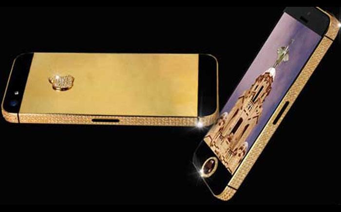 iPhone с черным бриллиантом